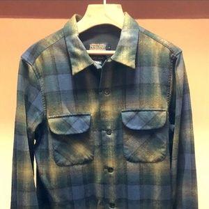 Pendleton Board Shirt Green/Navy Ombre Medium